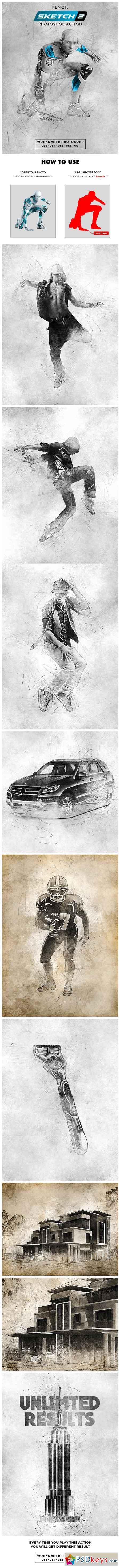 Pencil Sketch 2 Photoshop Action 22727861