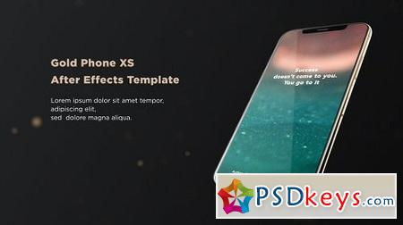 Videohive Gold Phone XS 23128612 After Effects Project