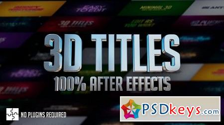 MotionArray 3D Titles 100% After Effects 156132 After Effects Project