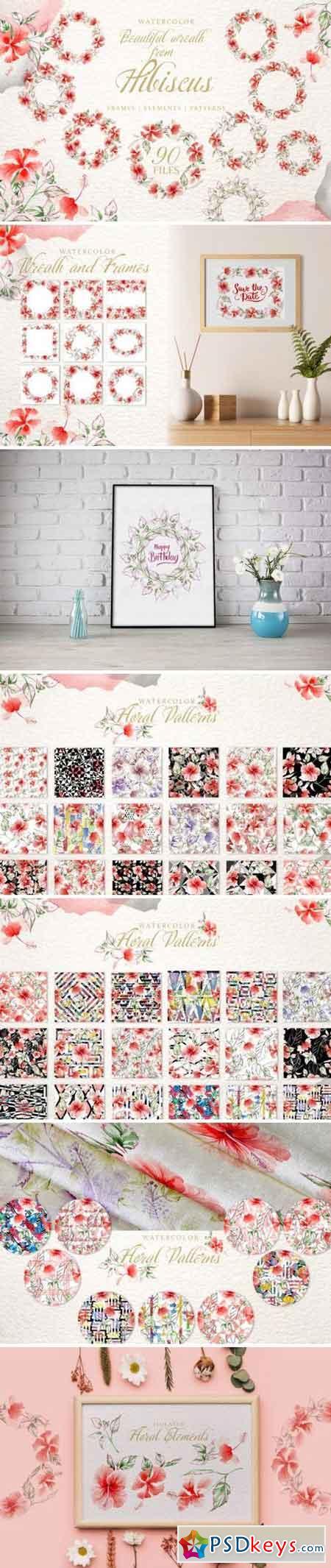 Hibiscus Watercolor png 3358061