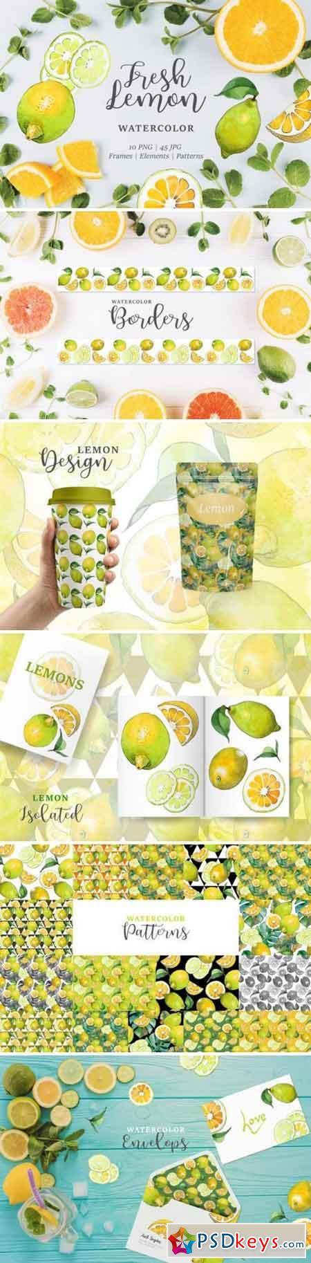 Lemon Watercolor png 3358192