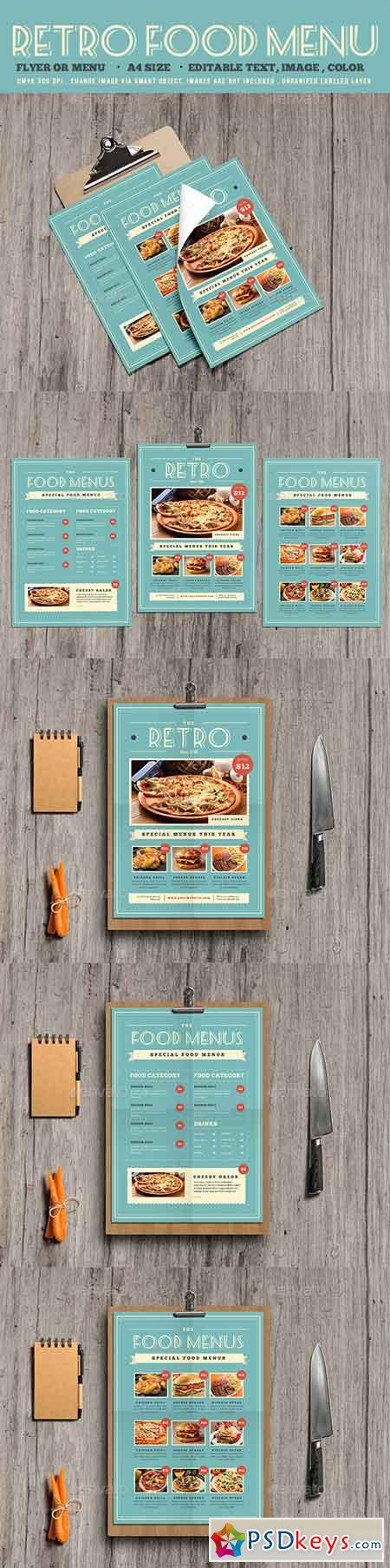 Retro Food Menu Flyer 19545993