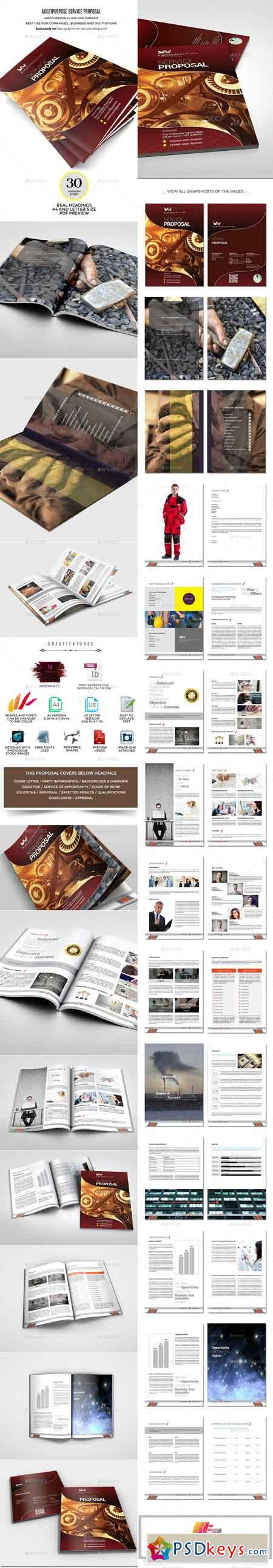 Wings Multipurpose InDesign Service Proposal 10112534