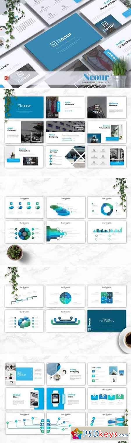 NEOUR - Powerpoint, Keynote, Google Sliders Templates