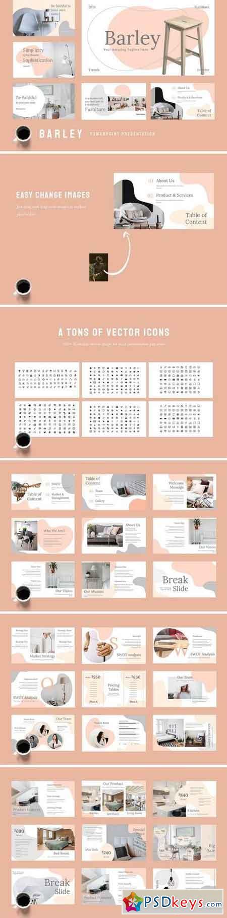 Barley - Furniture - Powerpoint, Keynote, Google Sliders Templates