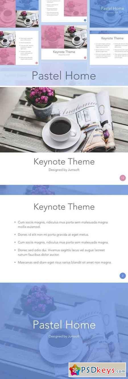 Pastel Home Keynote Template