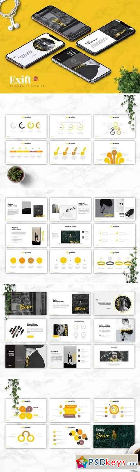 EXIFT - Powerpoint, Keynote, Google Sliders Templates