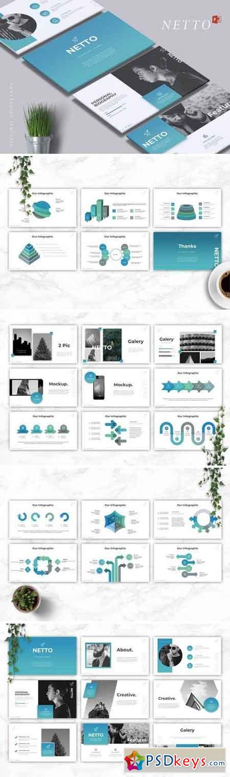 NETTO - Powerpoint, Keynote, Google Sliders Templates
