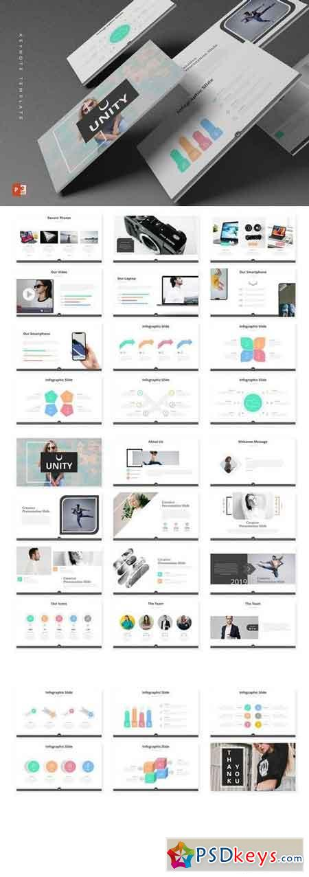 Unity - Powerpoint, Keynote, Google Sliders Templates