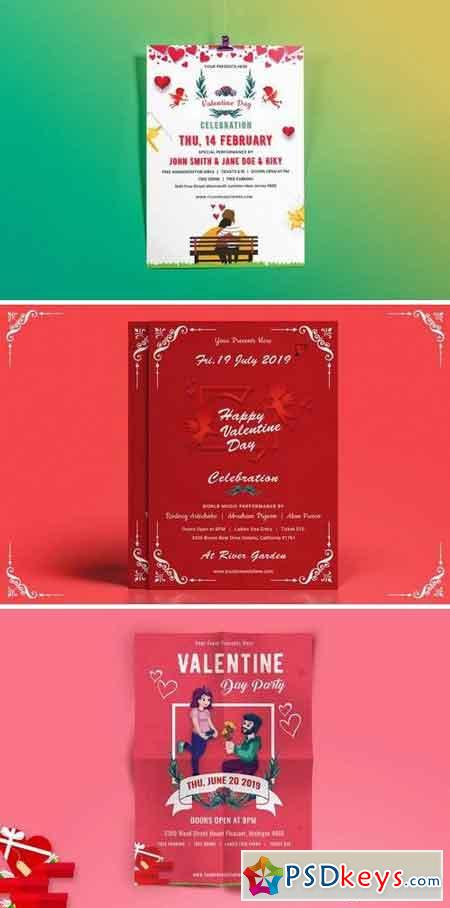 Valentines Day Party Flyer Bundle