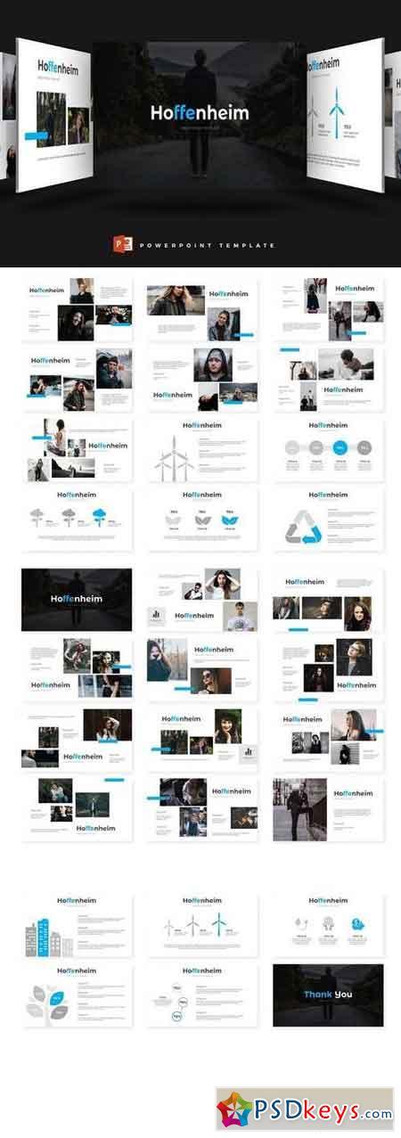 Hoffenheim - Powerpoint, Keynote, Google Sliders Templates