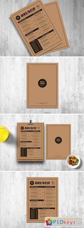 Retro Menus With Kraft Paper