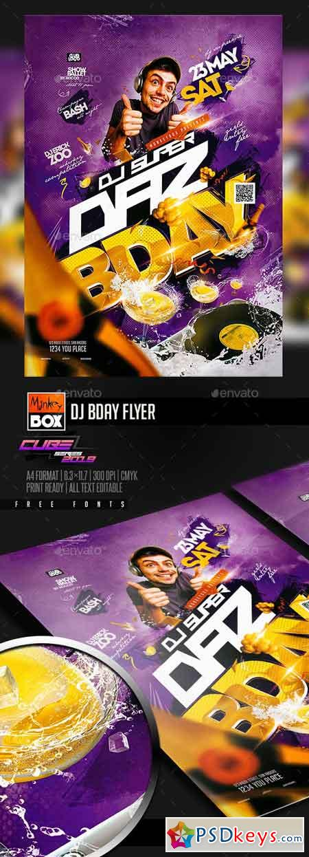 Dj Bday Flyer 23136579