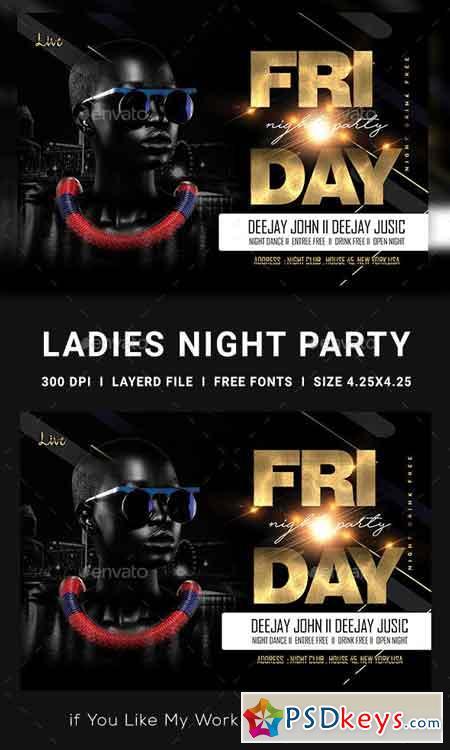 Ladies Night Club Flyer 23139253