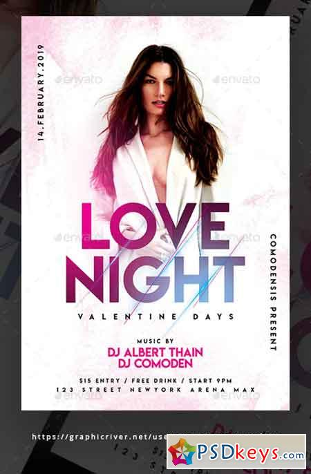 Love Night Party Flyer Templates 23138826