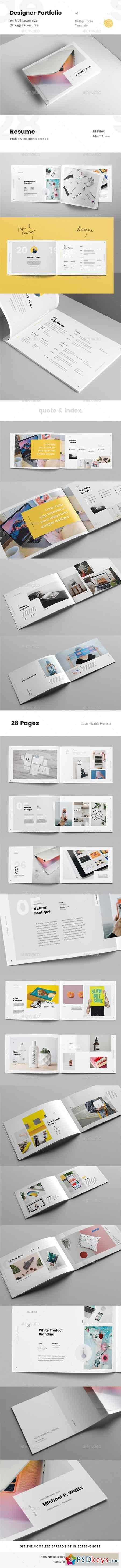 Landscape Creative Portfolio for Designers with Resume 23021146