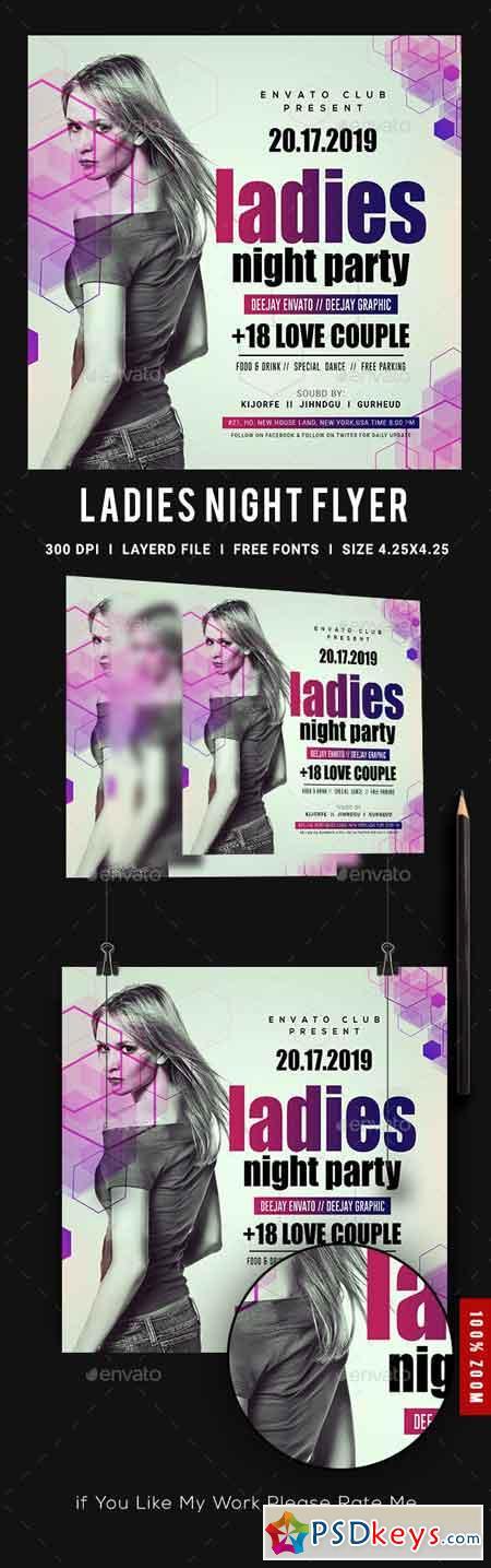 Ladies Night Club Flyer 23139277