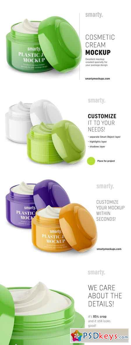 Cosmetic jar mockup half opened 3368147