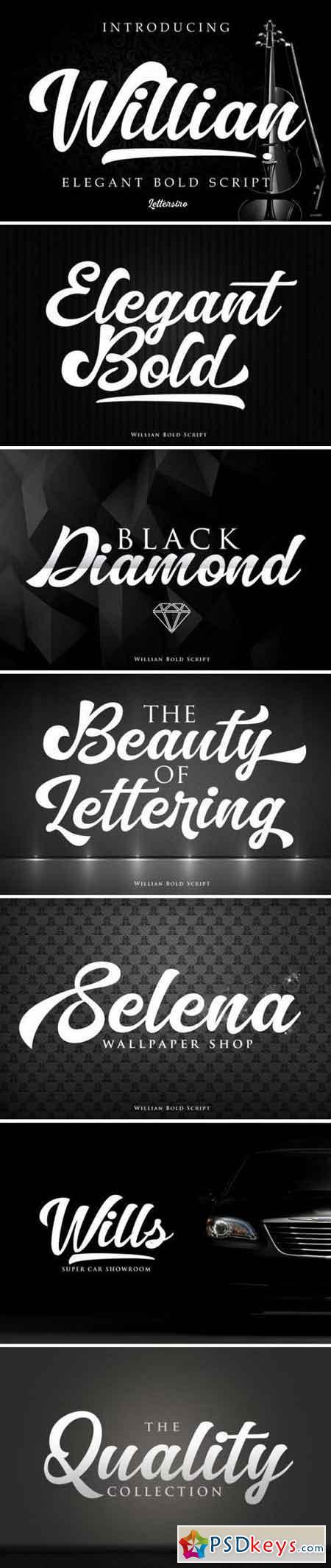 Willian - Elegant Bold Script 3384195