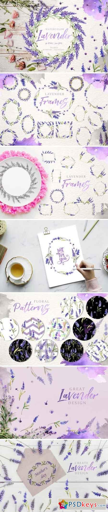 Lavender Watercolor png 3356504