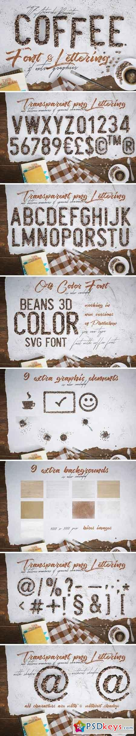 Coffee Beans - Font & Lettering