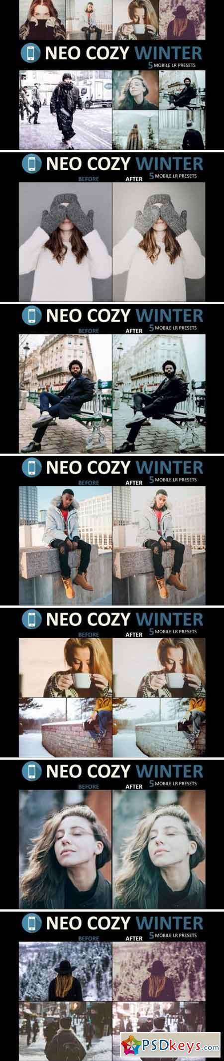 Neo Cozy Winter mobile lightroom presets