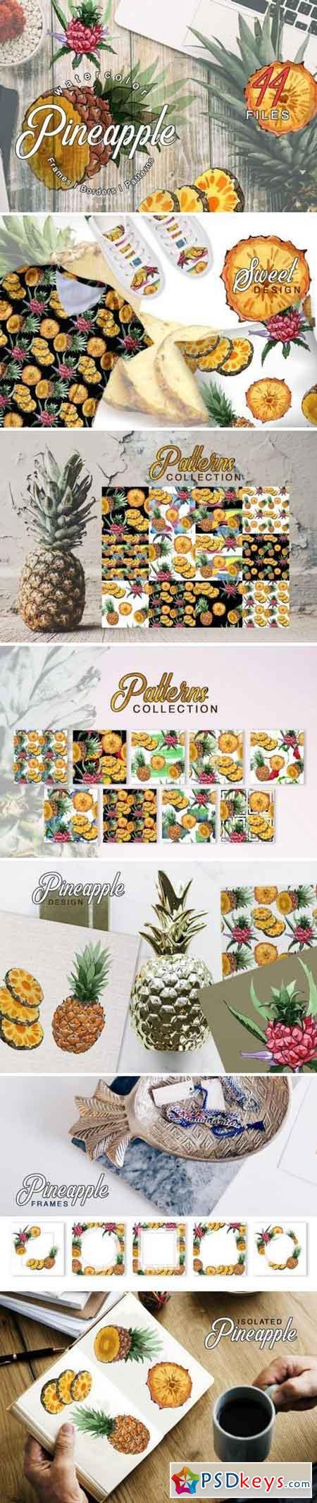 Pineapple Watercolor png 3358477