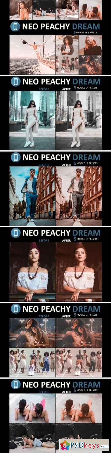 Neo Peachy Dream mobile lightroom presets