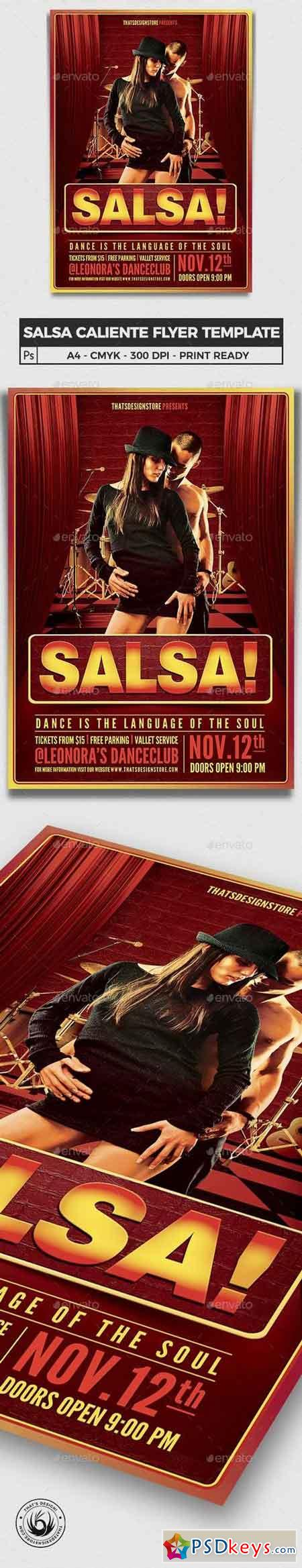Salsa Caliente Flyer Template 6251593