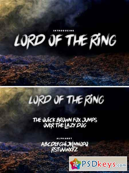The Lord of The Ring Font