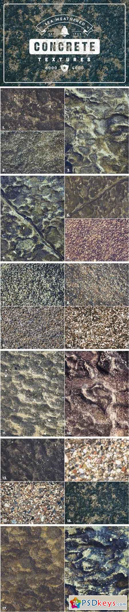 20 Weathered Sea Concrete Textures 3357422