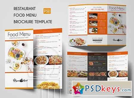 Restaurant Food menu Brochure 3309001