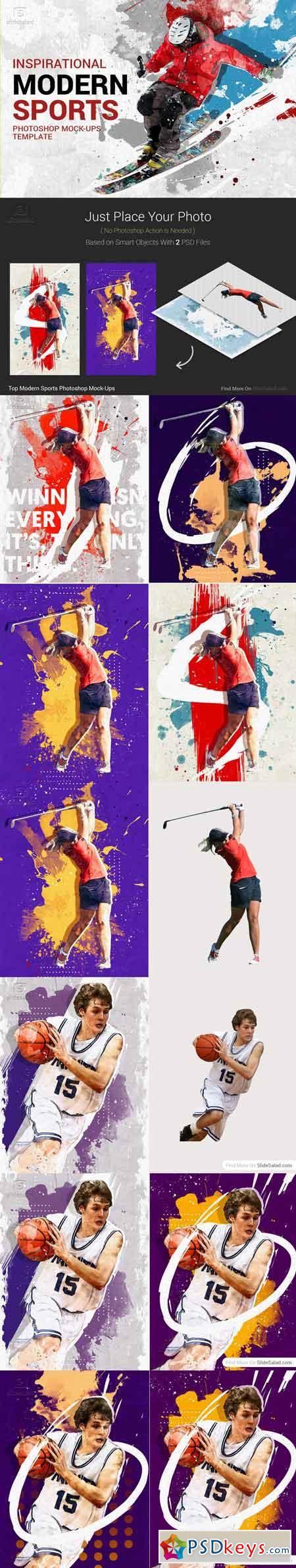 Top Modern Sports Photoshop Mock-Ups 3324367