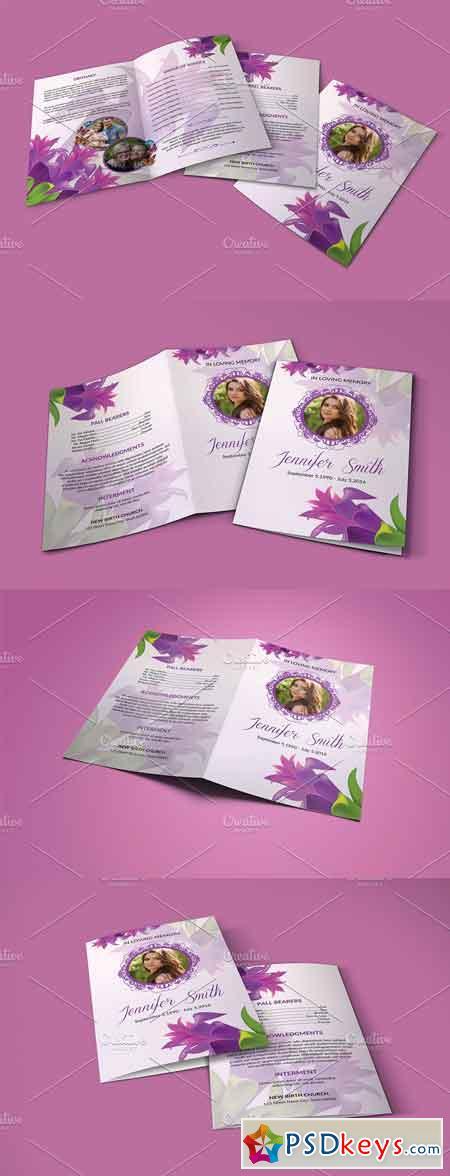 Funeral Program Template - V820 2884701
