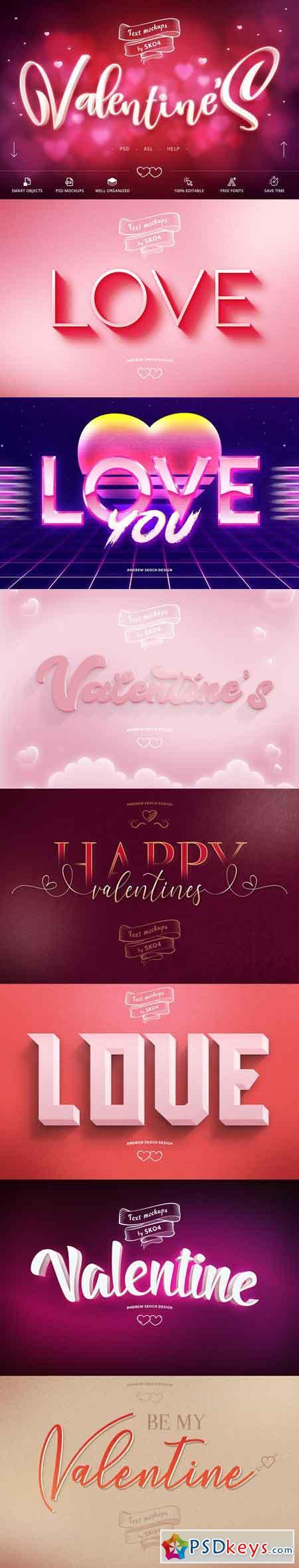 Valentine Text Effects 3314874