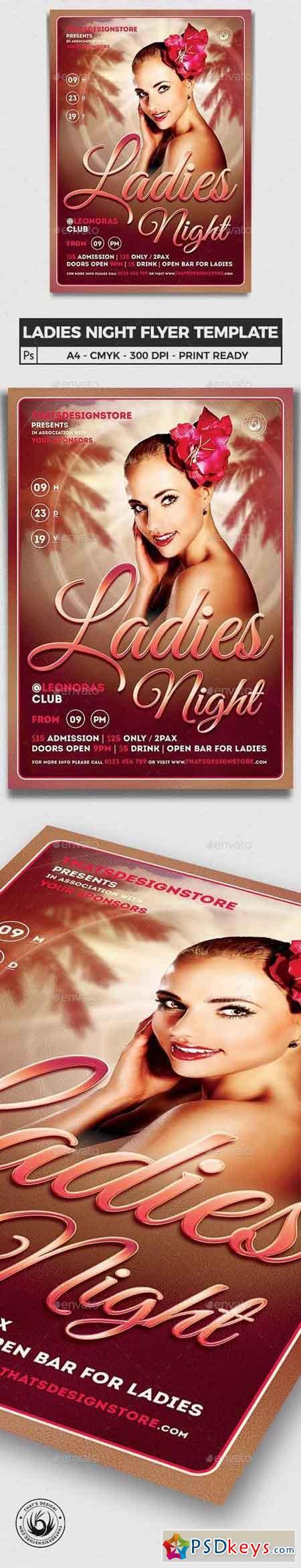 Sensual Ladies Night Flyer Template 6331341