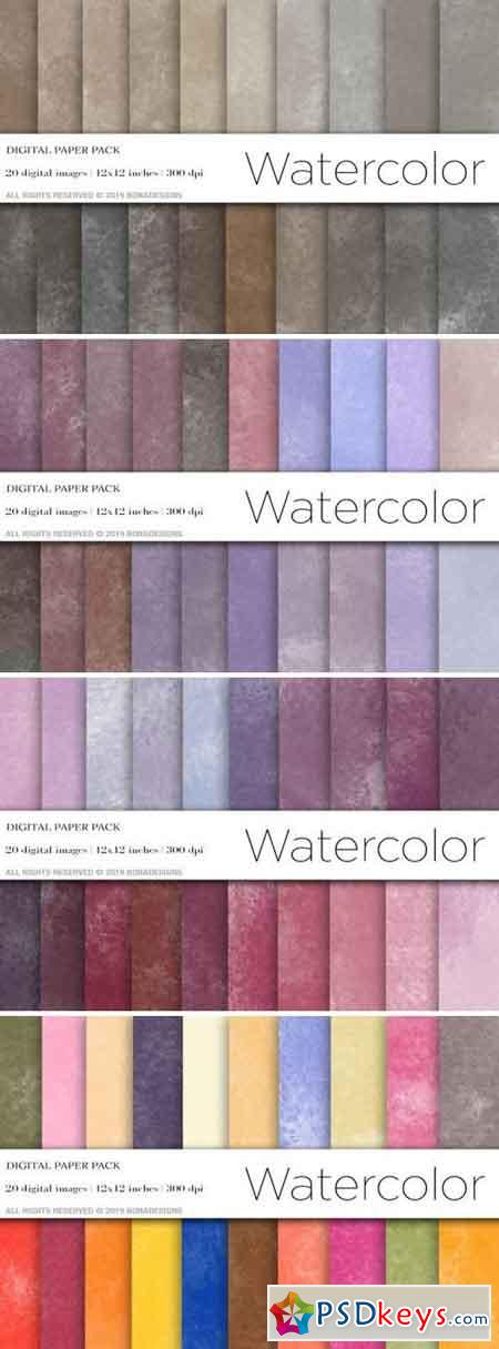 Watercolor Digital Papers Bundle