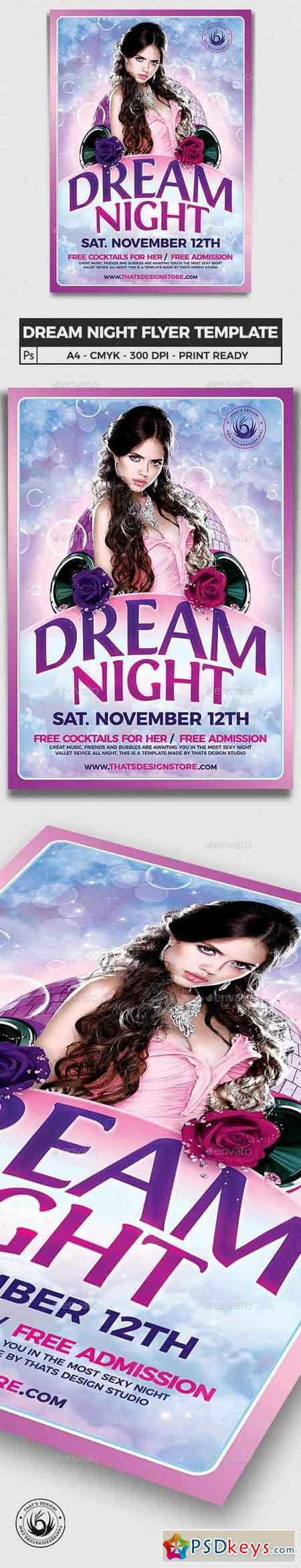 Dream Night Flyer Template 15331912