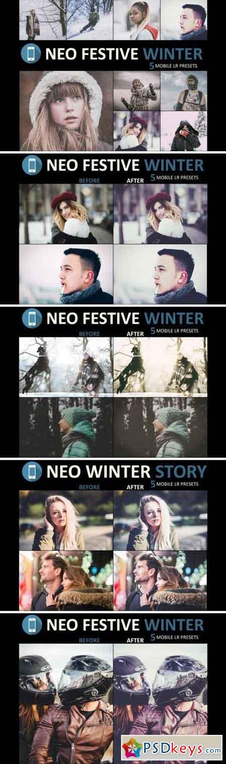 Neo Festive Winter Story mobile lightroom presets 3524678