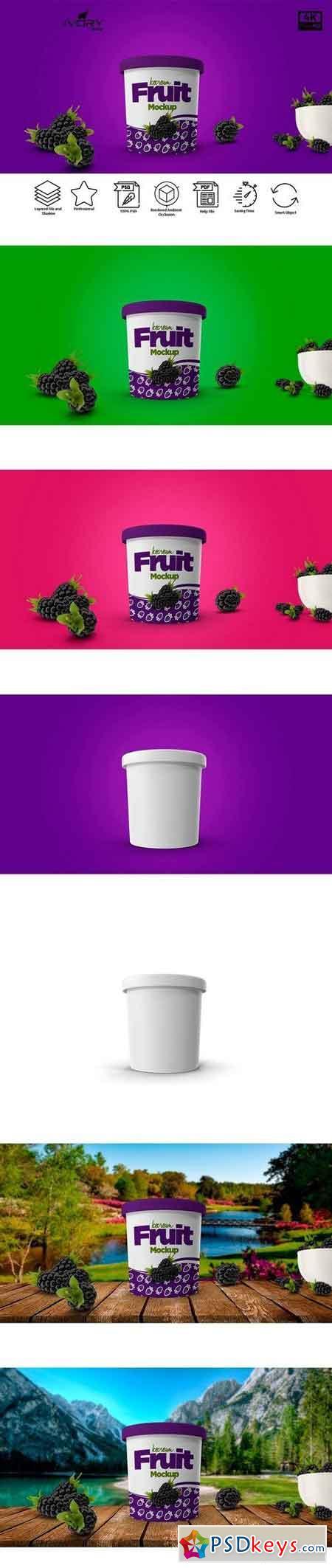 Ice Cream Cup Mockup 2135666