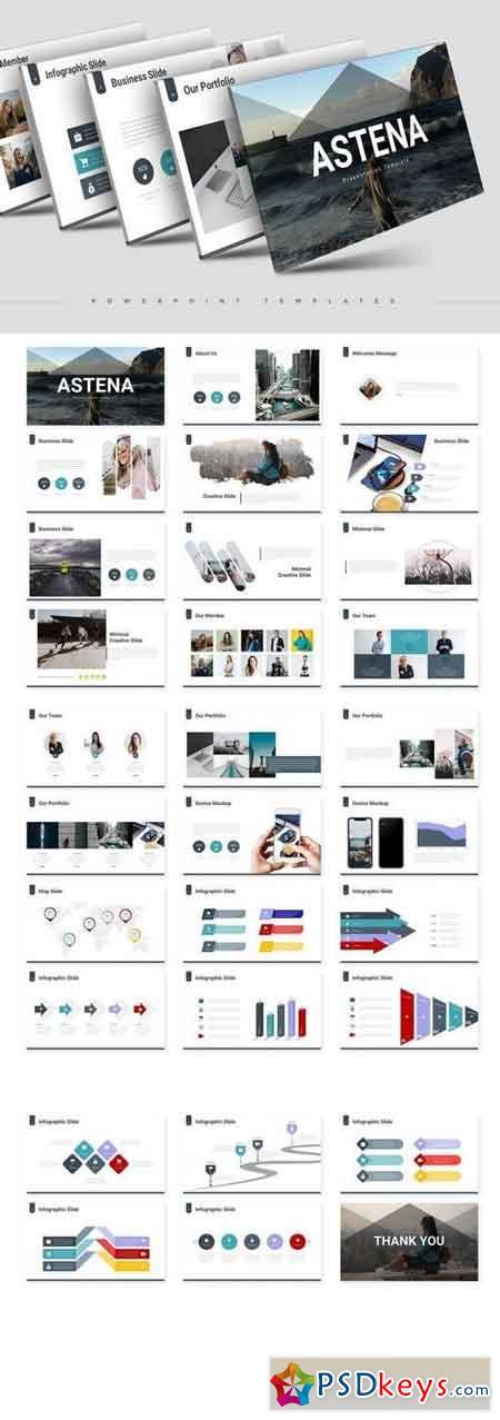 Astena - Powerpoint, Keynote, Google Sliders Templates