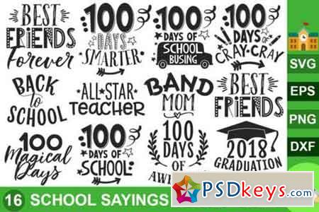 School Sayings SVG Bundle