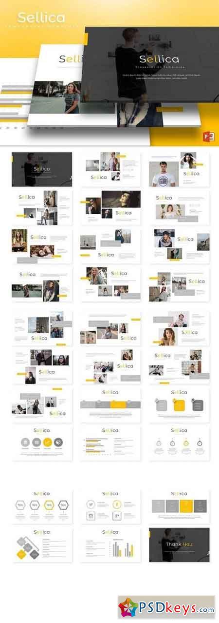 Sellica - Powerpoint, Keynote, Google Sliders Templates
