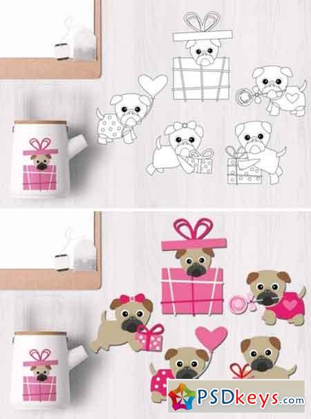 Valentine Pugs