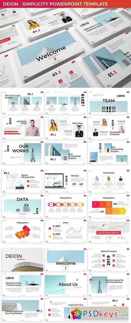 Deion - Simplicity Powerpoint Template