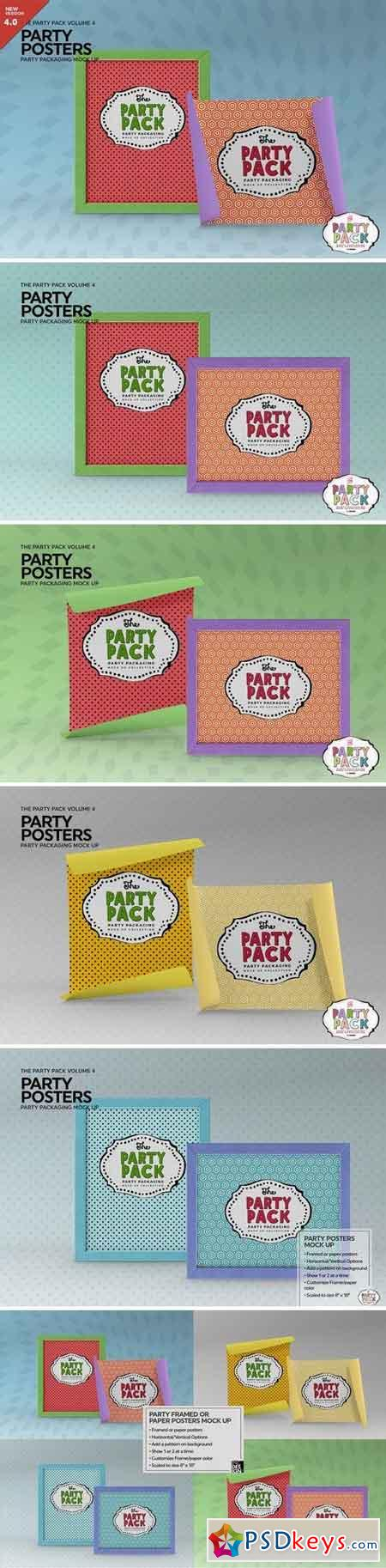 Party Posters Packaging MockUp 2199343