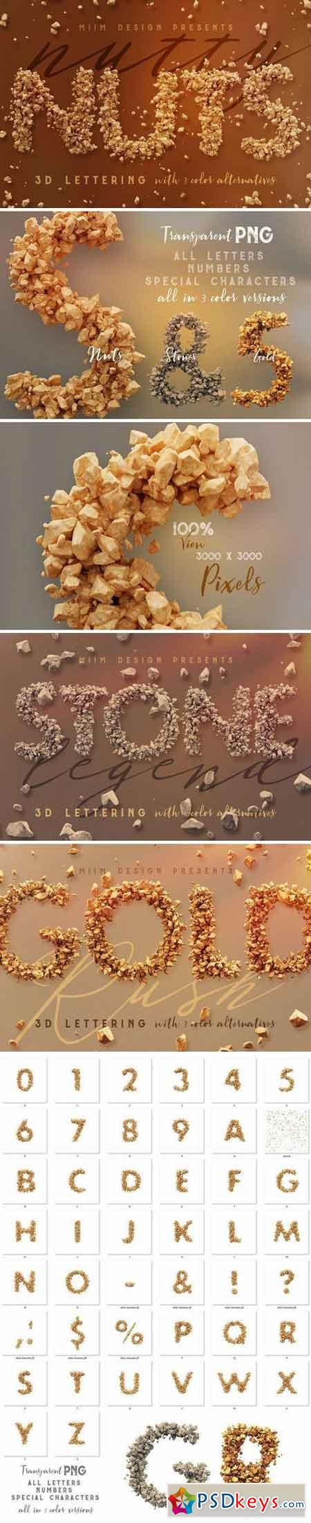 Nutty Nuts - 3D Lettering 2196013