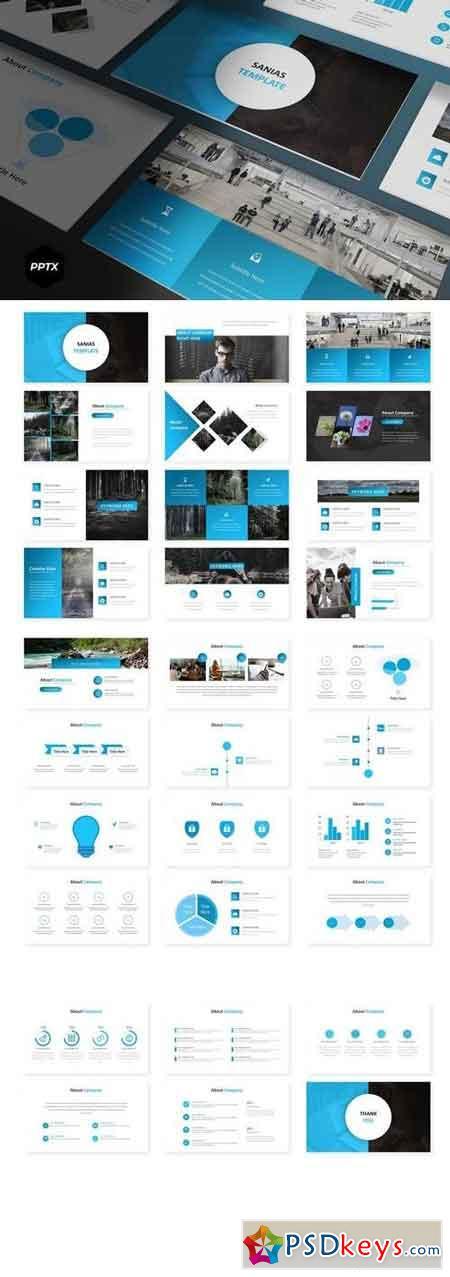 Sanias - Powerpoint, Keynote, Google Sliders Templates