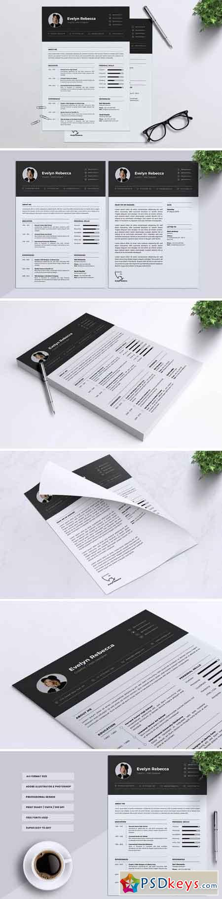 Minimalist CV Resume Vol07