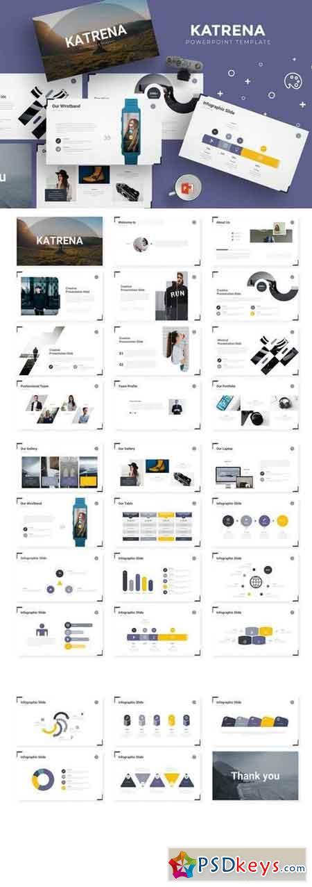 Katrena - Powerpoint, Keynote, Google Sliders Templates